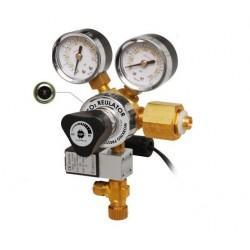 UP AQUA Brass Co2 Regulator with Solenoid